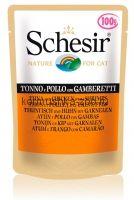 Schesir консервы для кошек Тунец/курица/креветки