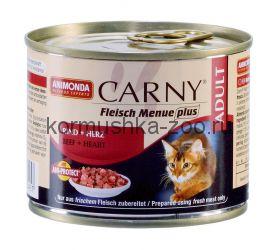 Animonda Carny Adult консервы для кошек Говядина/Сердце