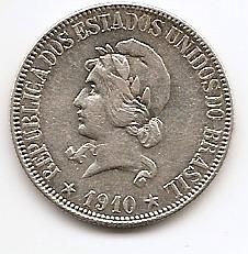 1000 рейс Бразилия 1910 серебро