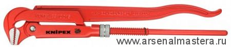 Клещи трубные (КЛЮЧ  ТРУБНЫЙ), губки наклонены под углом 90° KNIPEX 83 10 040