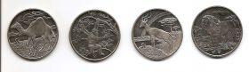 Фауна Набор монет 1 доллар Сьерра-Леоне 2006 ( 4 монеты)