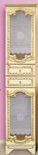 Пенал Misty Элис 44 цвет белый, бежевый патина