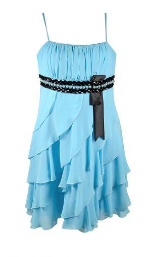 Платье-спираль с завышенной линией талии
