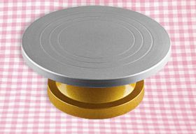 Подставка под торт вращающаяся мет/пластик d-30см