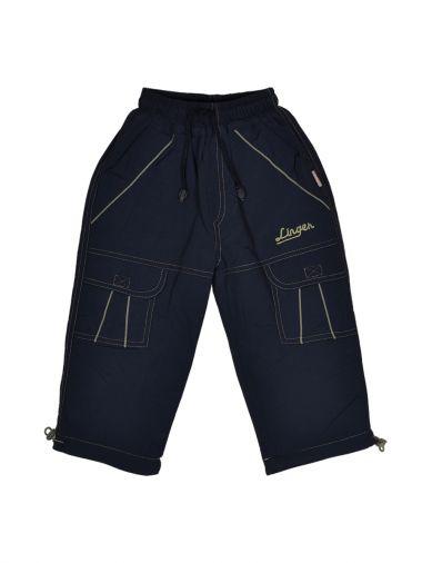 Теплые брюки из плащевой ткани синего цвета