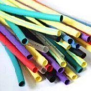 Термоусадочная трубка D4,8-2,5(Цвет: белый, желтый, зеленый, красный, синий, черный)(Арт. ТУТ4,8-2.5)