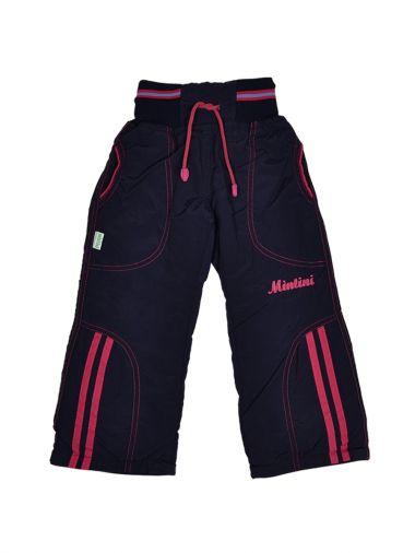Теплые брюки из плащевой ткани с подкладкой на флисе