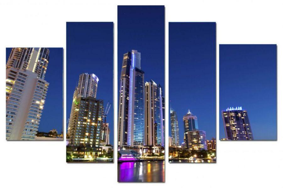 Модульная картина Неспящий город