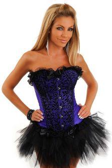 Фиолетовый корсет с вышивкой