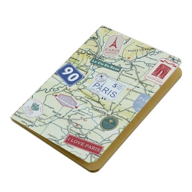 """Тетрадь-скетчбук """"Paris Stamp Map"""""""