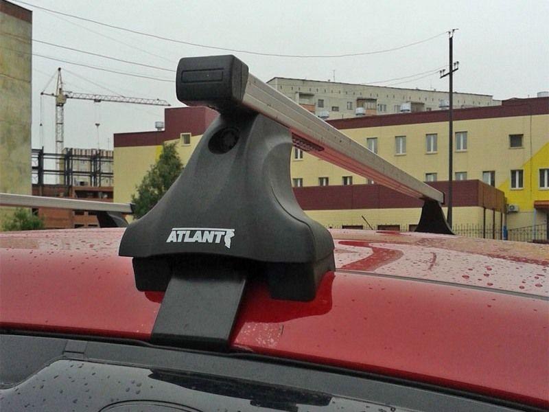 Багажник на крышу на Hyundai ix35 (без рейлингов), Атлант, прямоугольные дуги