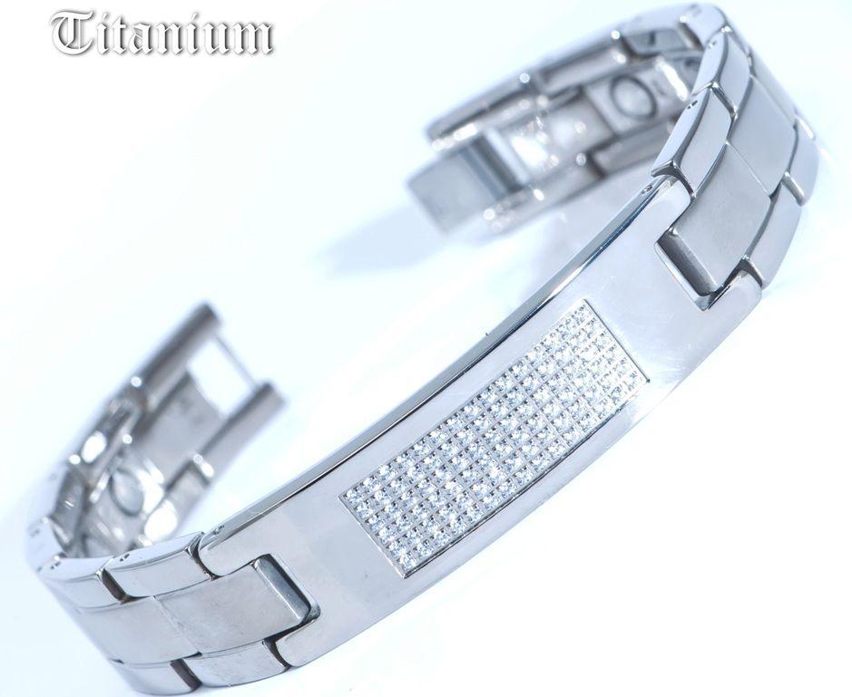 Титановый магнитный браслет TIB-2001SNT-W