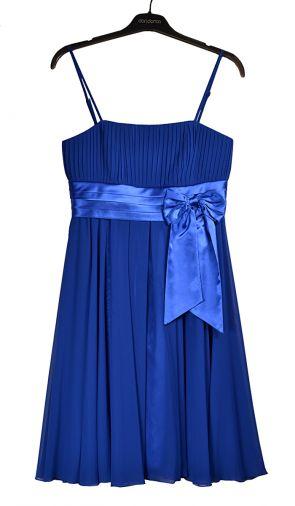 Нежное шифоновое платье синего цвета