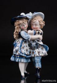 Девочка и мальчик в шляпах, Германия, Scheibe-Alsbach, Германия, 1887-1900 гг