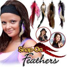Индейское украшение из перьев Snap On Feathers.