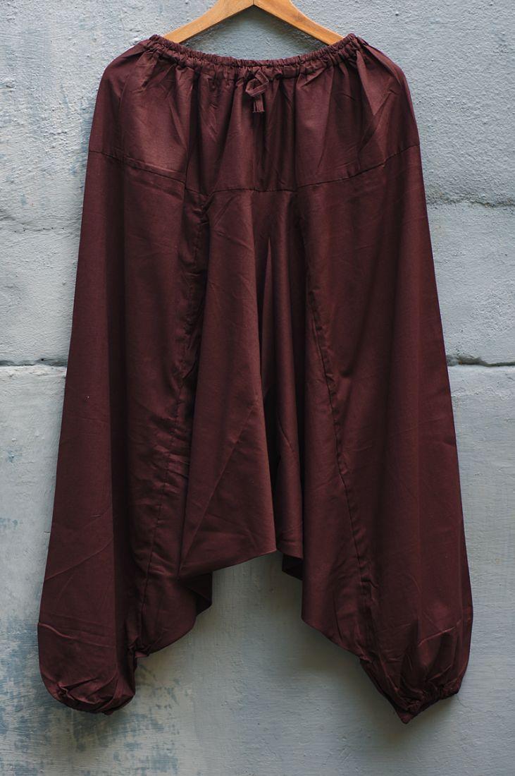 Коричневые мужские штаны афгани (отправка из Индии)