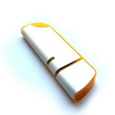 4GB USB-флэш накопитель Apexto U207 металлическая с оранжевой вставкой
