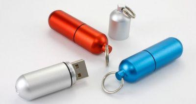 8GB USB-флэш накопитель Apexto U505D, Капсула серебристая