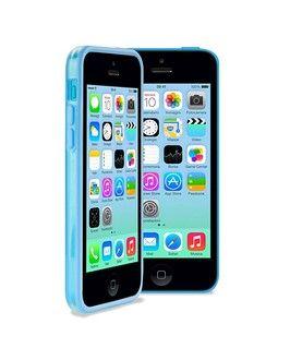 Бампер для iphone 5c (синий с прозрачным)