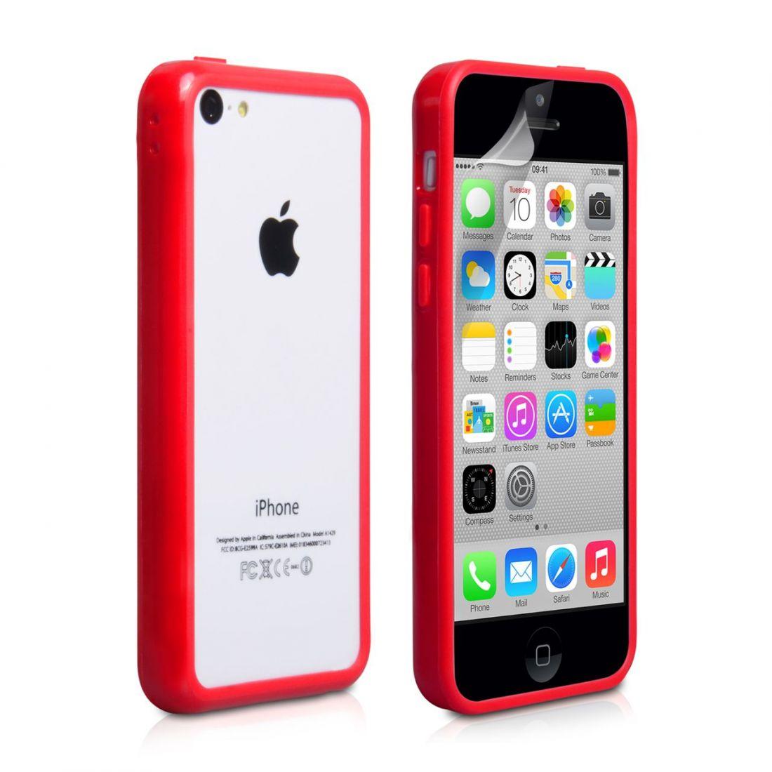 Бампер для iphone 5c (красный)