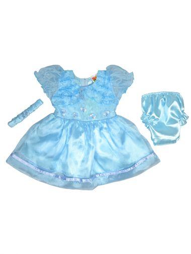 Нарядное платье нежно-голубого цвета для малышки
