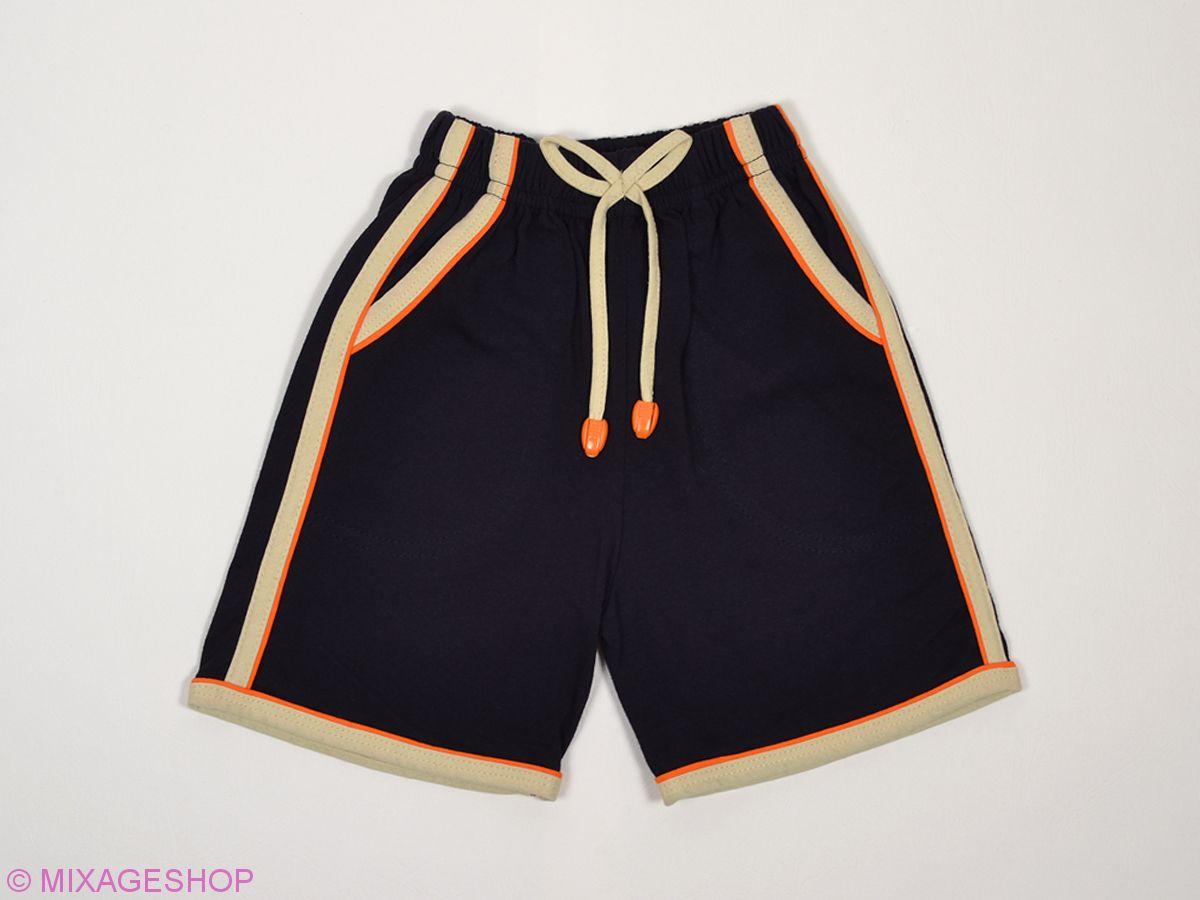 Трикотажные шорты с карманами и контрастными вставками по бокам
