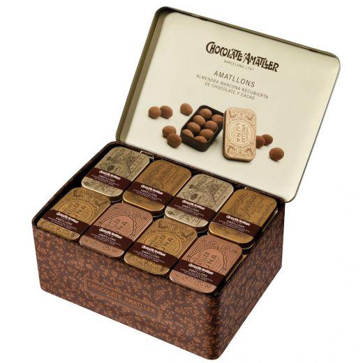 Конфеты драже Amatller Миндаль в белом шоколаде и пудре - 35 г (Испания)