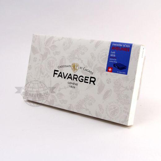 Конфеты шоколадные Favarger Пралине из молочного шоколада с орехом - 96 г (Швейцария)