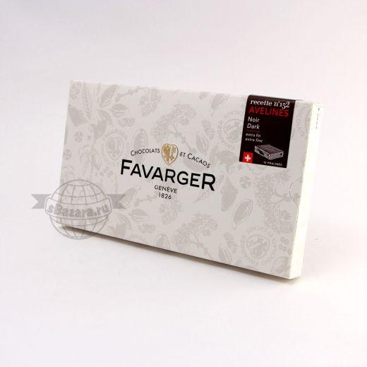 Конфеты шоколадные Favarger Пралине из темного шоколада с орехами - 96 г (Швейцария)