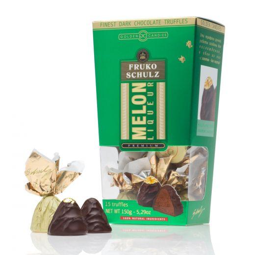 Конфеты шоколадные Трюфели Golden Candies с ликёром Фруко Шульц Дыня - 150 г (Россия)