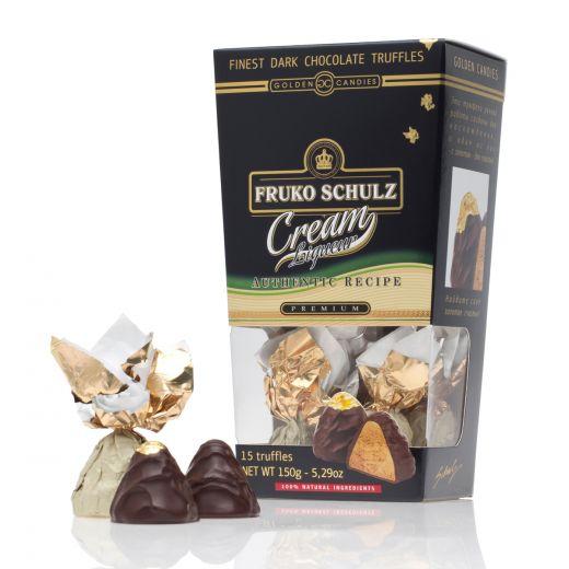 Конфеты шоколадные Трюфели Golden Candies с ликёром Фруко Шульц Сливочный - 150 г (Россия)