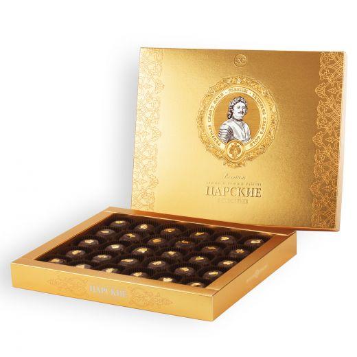 Конфеты шоколадные Трюфели Golden Candies Царские Золотые - 450 г (Россия)