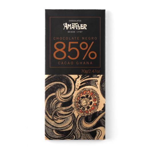 Шоколад Amatller 85% какао, Гана - 70 г (Испания)