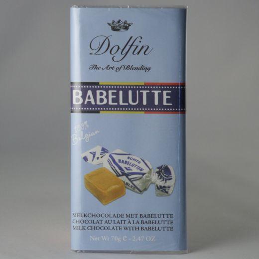 Шоколад Dolfin Молочный со вкусом карамели - 70 г (Бельгия)