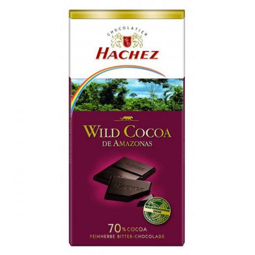 Шоколад Hachez Горький из диких какао-бобов Амазонии 70% - 100 г (Германия)