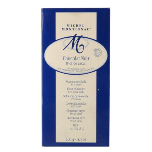 Шоколад Michel Montignac Чёрный 85% какао без лецитина и ароматизаторов БИО - 100 г (Франция)