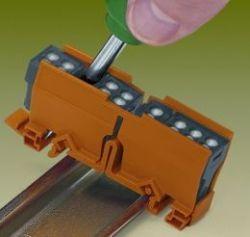 Адаптер WAGO для установки клеммников серии 773 на DIN-рейку (Арт. 773-332)