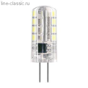 Лампы LED - G4 SMD 3W AC 220V 360° 3300K