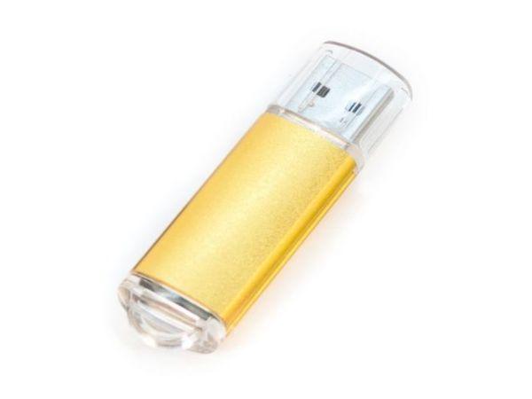 4GB USB-флэш накопитель Apexto U307B, золотой с прозрачным колпачком