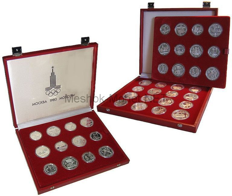 Набор серебряных монет Олимпиада 80 АЦ