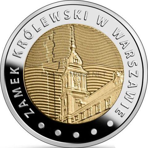 Польша 5 злотых 2014 г. Королевский замок в Варшаве
