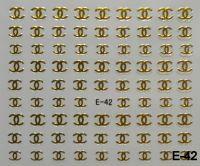 """Наклейка для дизайна ногтей на клеевой основе """"Золото"""", E-42"""
