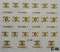 """Наклейка для дизайна ногтей на клеевой основе """"Золото"""", E-46"""