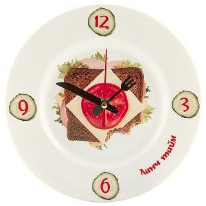 """Часы-тарелка """"Бутерброд"""""""