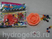 гидрогель в форме розы