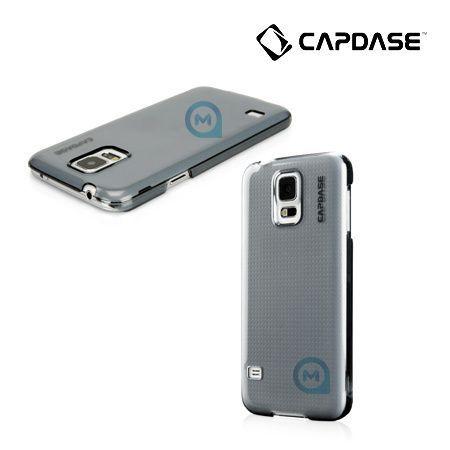 Чехол-накладка для Samsung galaxy S5 CAPDASE Karapace Jacket Finne DS, прозрачный/черный