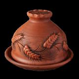 "Блинница ""Колоски"", керамика, диаметр 24 см"