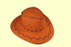Шляпа ковбоя ярко оранжевая