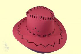 Шляпа ковбоя цвет ярко малиновый