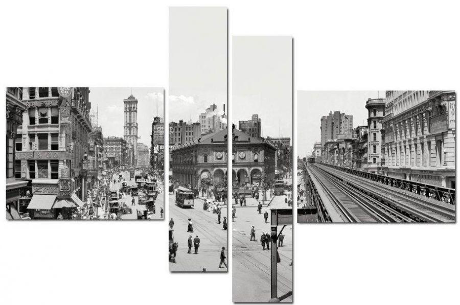 Модульная картина Ретро-город
